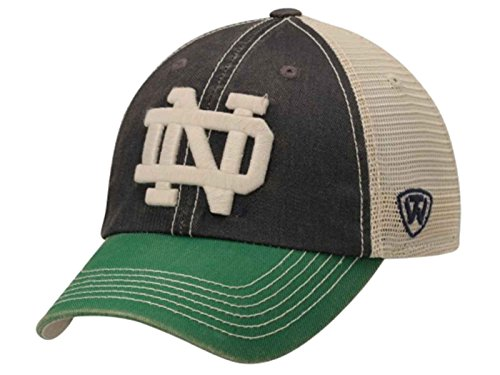 Top of the World NCAA Notre Dame Fighting Irish Off Road Adjustable Cap, One Size, Navy/Stone