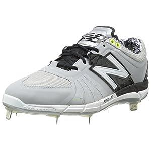 New Balance Men's L3000V2 Metal Low Baseball Shoe,Grey/Black,9.5 D US