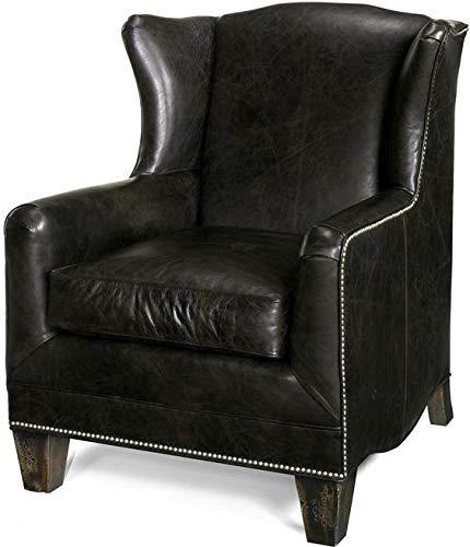 Amazon.com: Acento silla Biblioteca cónico pierna, piel ...