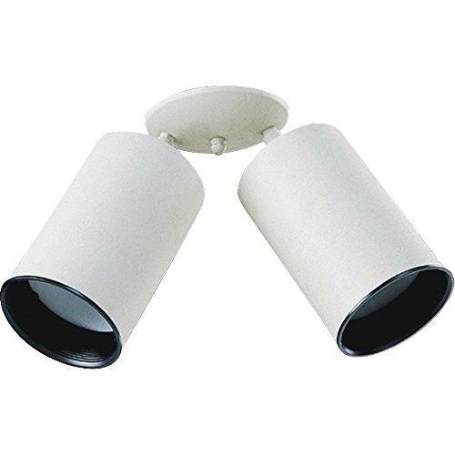 der Bullet Directional Spot Light Fully Adjustable White Steel Can Lamp with Black Metal Baffle (Light Steel Ceiling Spot Light)