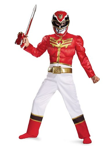 Red Ranger Megaforce Classic Muscle Child Costume - Large -