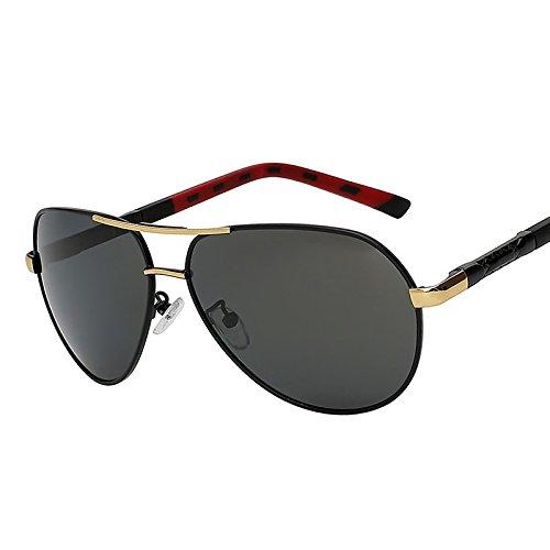marrón silver lentes gafas polarizadas UV400 Gafas sol marca de sol calidad de alta experimental Black TIANLIANG04 conducción metal diseñador Vintage de de Retro gafas Mens gafas hombres f5Cwx4qg
