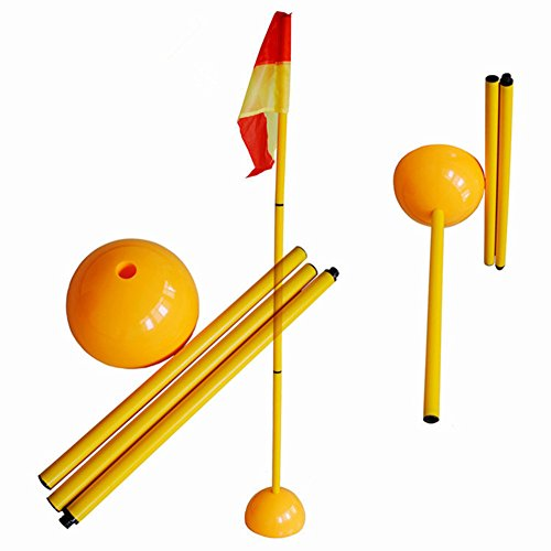 Football corner flagpole Detachable Soccer Corner Pole & Flag Post Set ABS Base 1.5m 3pcs pole+water injection base+flag