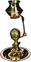 Made with Brass & Copper Metal Shivling With Dish Medium in Size Statue by Bharat Haat BH01617