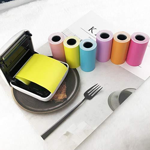 Paperang P1 Thermal paper 57X30- mini printer paper- Film photo printer paper 6 rolls Pastable