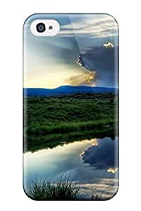 3302342K67166587 Durable Defender Case For Iphone 4/4s Tpu Cover(earth Landscape)