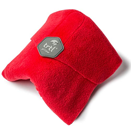Trtl Scientifically Proven Super Soft Neck Support Travel Pillow – Machine Washable Red