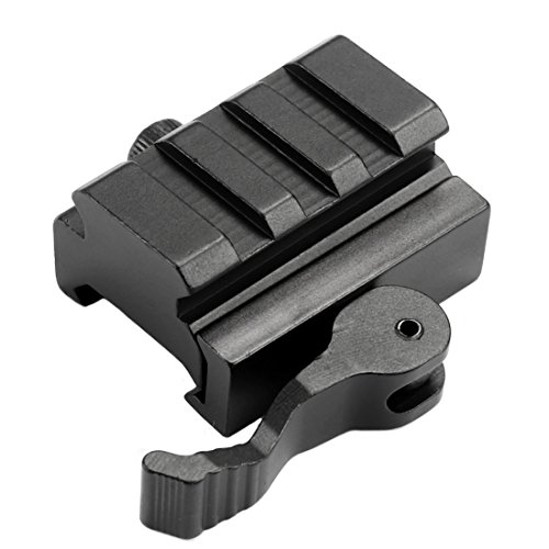 Mizugiwa 3-Slot QD Lever Mount Adaptor and Riser Medium Profile Black (Lever Adapter)