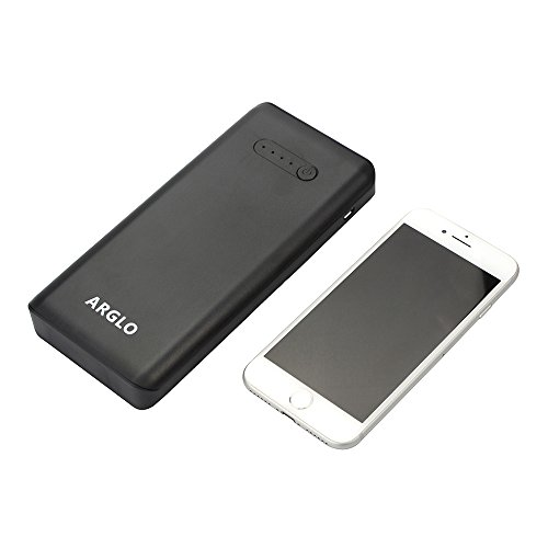 moveable Charger PowerCore 20800mAh USB C Premium ability bank by Arglo speedier safer charging together with our advance systems really higher capacity for Macbook Galaxy S9 Note 8 iPhone and extra black External Battery Packs