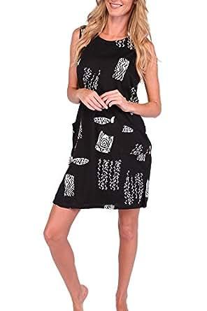Ingear Beach Summer Shift Dress Short Cotton Tank Dress