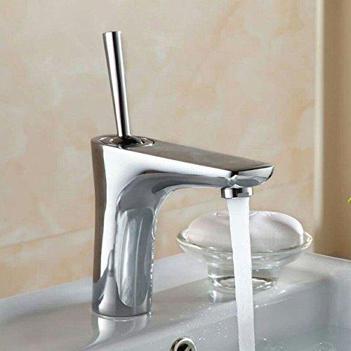 All copper basin faucet, single hole hot and cold mixer faucet, bathroom faucet-A