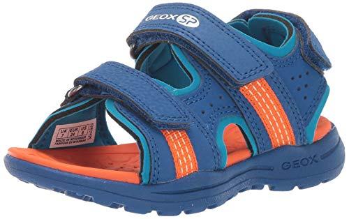 Geox Vaniett Boy 4 SP Open Toe Sandal Sport, blu Orange, 27 Medium US Little Kid