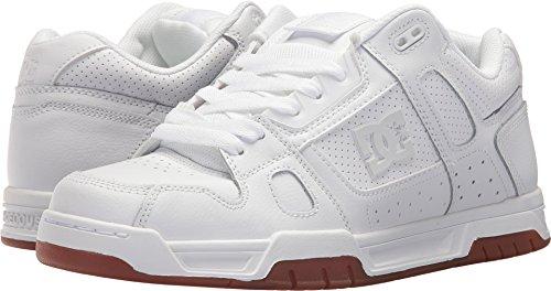DC Men's Stag Skate Shoe, White/Gum, 13 D US