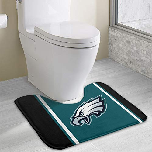 Marrytiny Custom Colourful Non Slip U-Shaped Toilet Bath Rug Philadelphia Eagles Football Team Anti-Bacterial Floor Contour Doormat Shower Mat Bathroom Carpet 19.3 x 15.7 Inches
