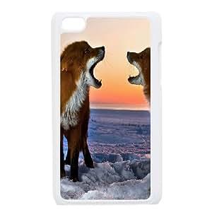 ZK-SXH - Red fox singing Custom Case Cover for iPod Touch 4,Red fox singing DIY Cover Case