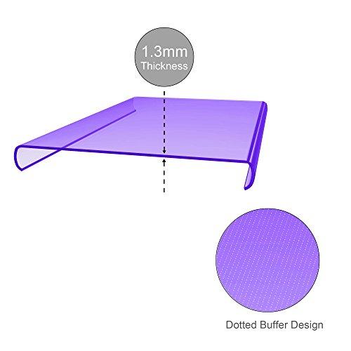Cadorabo - OnePlus One X Cubierta protectora de silicona TPU en diseño AIR - Case Cover Funda Carcasa Protección en TRANSPARENTE-ROSA TRANSPARENTE-LILA