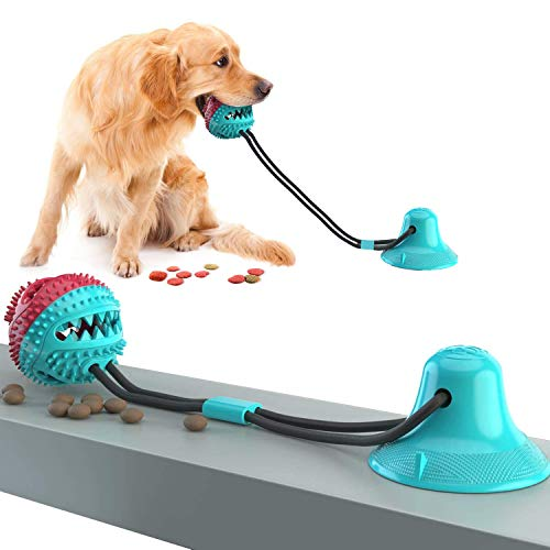 Dog Chew Toys for Aggressive Chewers, Suction Cup Dog Chewing Toy, Dog Rope Ball Toys with Suction Cup for Small Large…
