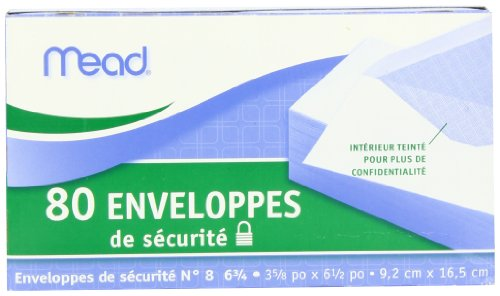 043100752127 - Mead #6 3/4 Security Envelopes, 80 Count (75212) carousel main 3