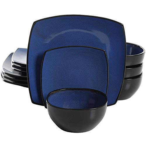 - Major-Q De Splendid 12-Piece Glossy Dinnerware Set (Cobalt)