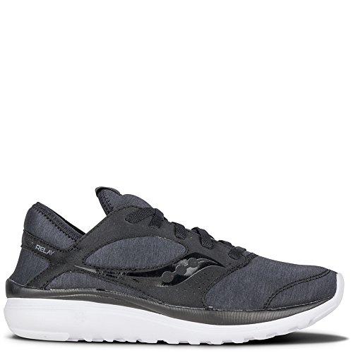 Saucony Women's Kineta Relay Running Shoe, Black/Black, 6.5 M US