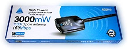 ADAPTADOR USB WIFI 3000mW RALINK 3070 ANTENA MELON WIRELESS