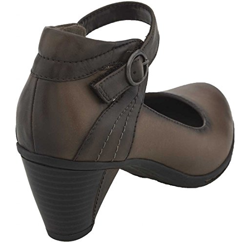 Earth Womens Angelica Clog Amandel Volnerf Leer