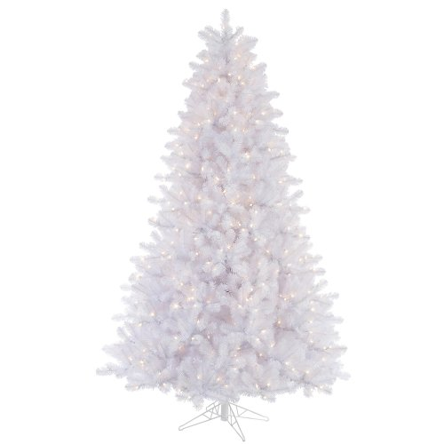 Lit Crystal Artificial Christmas Tree - Vickerman 65' Crystal White Pine Artificial Christmas Tree with 550 Clear lights