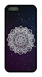 Mandala Aztec Tribal Pattern Theme Case for iPhone 5 5S Rubber Material Black by Maris's Diary