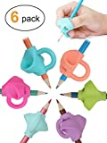 Pencil Grips, Jarlink Pencil Grips for Kids Handwriting Aid Grip Trainer Posture Correction Finger Grip for Kids, Adults, Arthritis Designed for Righties or Lefties (6PCS)