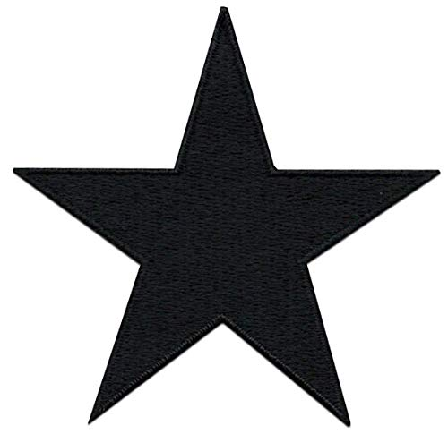 A-151 Black Star Patch 3 pcs Iron On Patch Embroidered Applique 2.75 x 2.67 inches Iron On Patches 7.0 x 6.8 cm