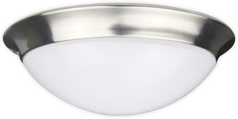 NOVELUX Led Ceiling Lights Fixture, Warm White 3000K, 1200 Lumens, 18W Light Fixture Flush Mount, 11 Inch Led Room Light For Bedroom, Dining room, Kitchen Light Fixtures Brushed Nickel