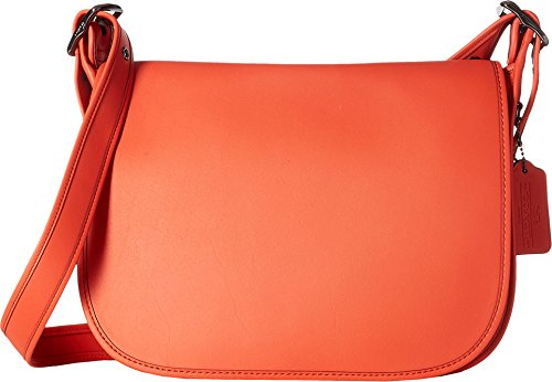 COACH Women's Glovetanned Leather Saddle Bag Dk/Deep Coral One Size by Coach
