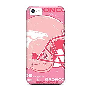 Bumper Hard Phone Covers For Iphone 5c (Sgn5297gyWL) Support Personal Customs Realistic Denver Broncos Skin hjbrhga1544