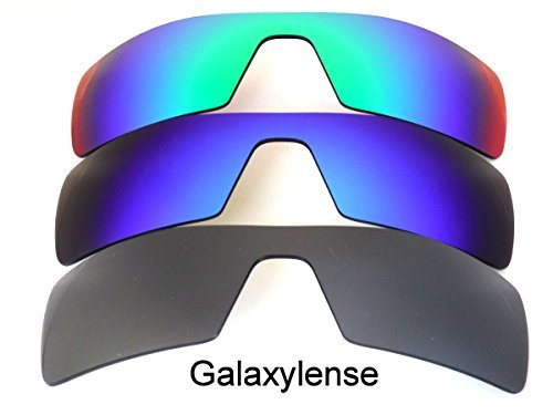 Y Lentes reemplazo Azul Galaxylense Rig para de Verde para hombre Oakley Negro Oil qPAOxUA