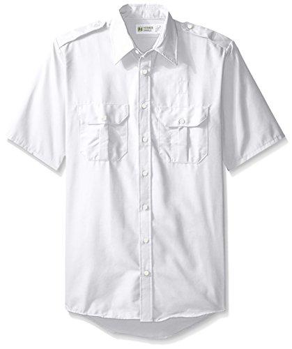 White Utility Shirt - 1