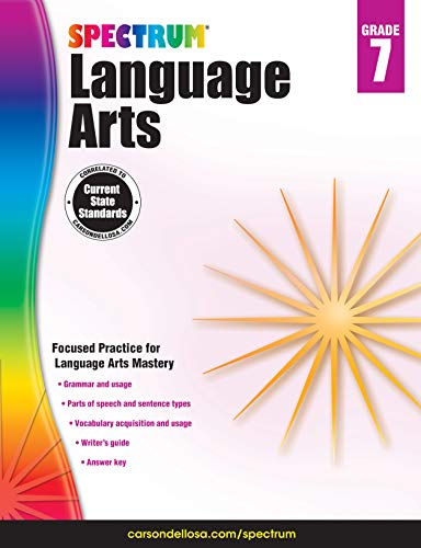 Carson-Dellosa Spectrum Language Arts Workbook, Grade 7