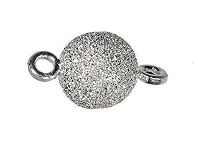uGems® Sterling Silver Stardust Sparkle 6mm Magnetic Clasp by ugems