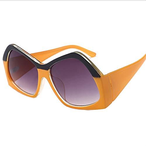 Frauen Polarisierte Sonnenbrille Mode Unregelmäßigen Rahmen Marke Designer Fahren Sonnenbrille Damen Shades Brillen UV400 - (Lenses Color: Brown) (Polarisierte Sonnenbrillen Marke)