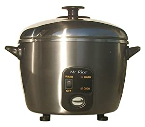 Amazon.com: Sunpentown SC-886 3-Cup Stainless-Steel Rice