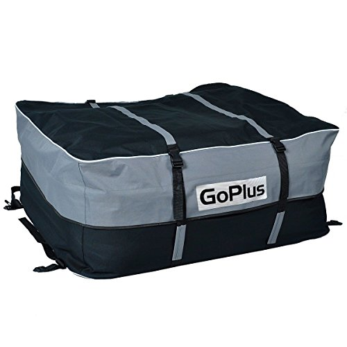 Goplus Car Van Suv Roof Top Waterproof Luggage Travel Cargo Rack Storage Bag Carrier