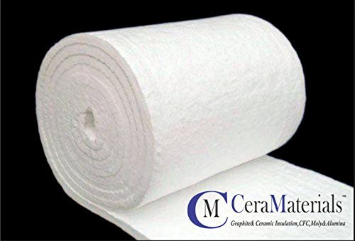 "Ceramic Fiber Blanket -Insulation 8#, 2600F,1""x24""x25' Wood Stoves, Pizza Ovens, Forges & More CeraMaterials 4336837452"