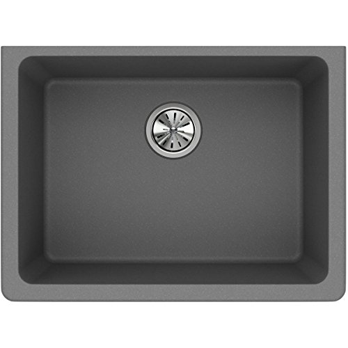Sink Essential Laundry (Elkay Quartz Classic ELGU2522GS0 Greystone Single Bowl Undermount Sink)