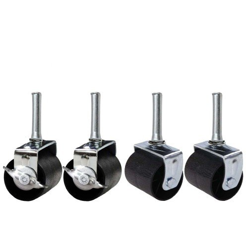 King's Brand Heavy Duty Caster Wheels for Bed Frame ~Set of 4~ (2 Locking & 2 None Locking)