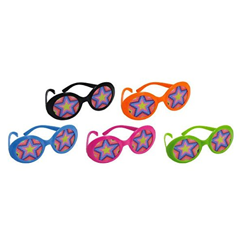[Disco Fever 70's Party Glasses With Star Printed Lens Accessory, Plastic, Pack of 10] (70s Disco Fever)