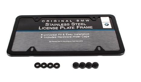 Genuine OEM BMW Slimline License Plate Frame With Black Finish