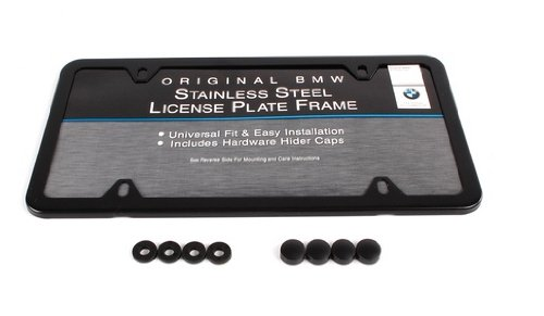 amazoncom genuine oem bmw slimline license plate frame with black finish automotive