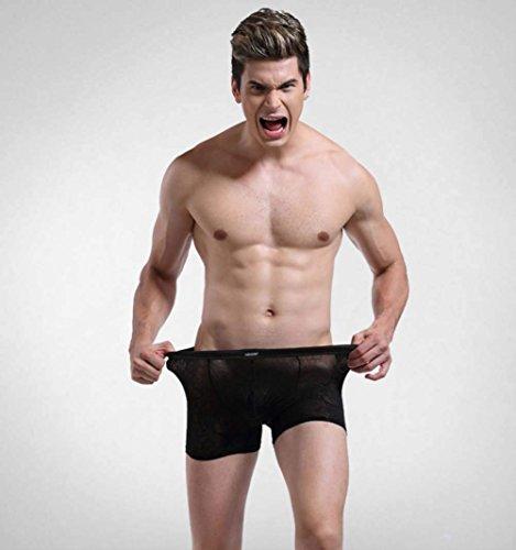 2 Ropa Lace Black Paquete Briefs Boxer Hombres Los Abultamiento Baja Hba Cintura Bragas Sexy Interior Funda De Transpirable qxaUtw