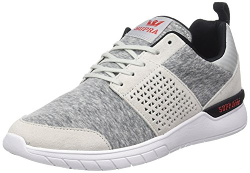Men's Grey red Red Light Risk Trainers White Supra Scissor Black 71q7ad