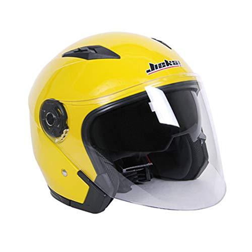MIRC Motorcycle Helmet Summer Breathable Electric Car Half Covered Light Helmet Double Lens Anti-Fog Half Helmet Helmet,D,M