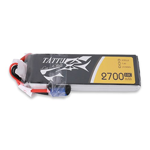 Tattu 2700mAh 2S Lipo Battery for Hubsan x4 Pro H501S Pro H501A H501C 2S,7.4V 10C 20Wh RC Drone Replacement Battery with Cable High Performance&Charging Protection Genuine Parts Provides Extra Flight